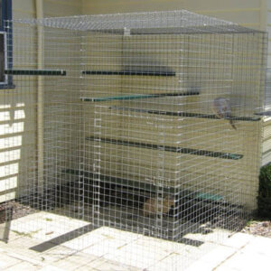 Shadehouse galvanised - Catnip Australia Cat Enclosures