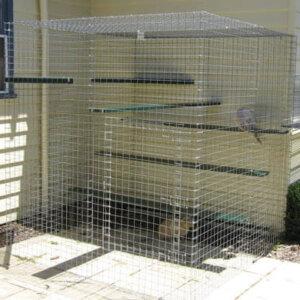 Shadehouse galvanised - Catnip Australia Cat Enclosures