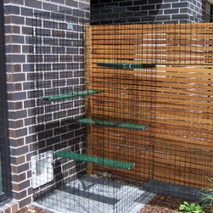 Tower with Paving - Catnip Australia Cat Enclosures